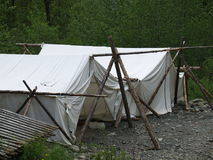 被塑造的老帐篷 免版税图库摄影