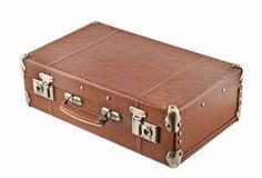 被塑造的老手提箱旅行 免版税库存图片