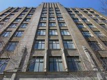 被塑造的老摩天大楼 库存图片