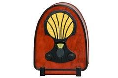 被塑造的老收音机 免版税库存照片