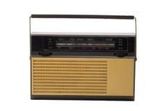 被塑造的老无线电接收机晶体管 免版税库存照片