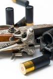被塑造的老步枪 免版税库存照片