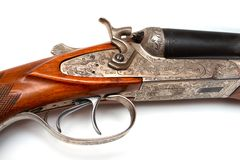 被塑造的老步枪 库存图片