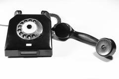 被塑造的老电话 免版税库存图片