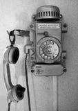 被塑造的老电话 免版税图库摄影