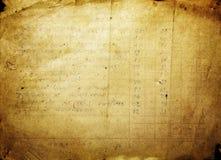 被塑造的老纸文本 免版税库存图片