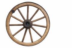 被塑造的老轮子 库存照片