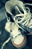 被塑造的老鞋子体育运动 图库摄影