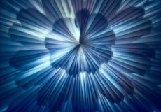 被塑造的蓝色圣诞灯有一个星 免版税库存照片