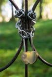 被塑造的重点挂锁 库存图片