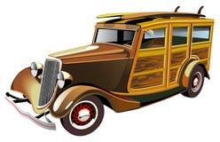 被塑造的马力强大的老汽车 免版税库存图片