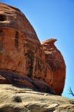 被塑造的鸡岩石 库存照片