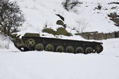 被填塞的俄国坦克 库存照片