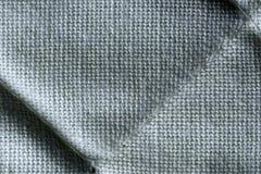 被填塞的白色棉织物宏指令特写镜头 库存照片