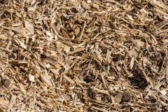 被处理的废木料和刨花 免版税图库摄影
