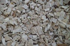 被处理的木头到片断里作为纹理 库存照片