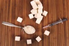 被处理的糖 免版税库存图片