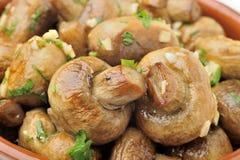 被嫩煎的蘑菇 免版税库存照片