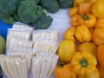 被安排的小玉米玉米棒 库存照片