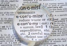 被定义的经济 免版税库存图片