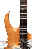 被定调子的电吉他槭树 库存照片