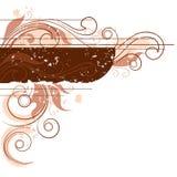 被定调子的背景棕色花卉 免版税库存照片