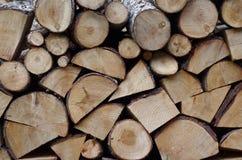 被定购的木柴堆 库存图片