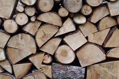 被定购的木柴堆 库存照片