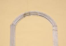 被密封的中世纪石曲拱特写镜头 库存照片