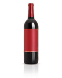 被密封的红葡萄酒瓶 库存图片