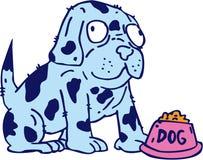 被察觉的狗食碗动画片 库存照片
