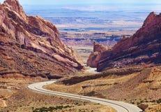 被察觉的狼峡谷犹他,美国在春天 库存照片