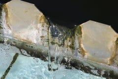 被对待的污水放电 免版税图库摄影