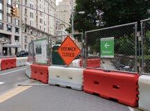 被封锁的边路,中央公园, NYC, NY,美国 免版税库存图片