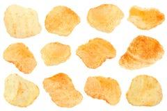被射击的土豆快餐收藏 免版税库存图片