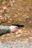 被射击的手枪 免版税库存图片