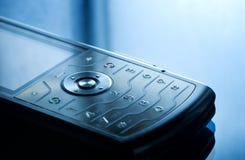 被射击的接近的移动电话  免版税库存照片