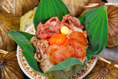 被射击的米泰国食物 免版税图库摄影