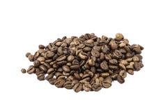 被射击的豆接近的咖啡 免版税库存图片