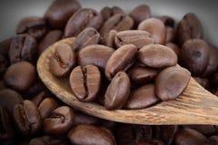 被射击的豆接近的咖啡 库存照片