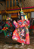 被屏蔽的不丹节日 免版税库存图片