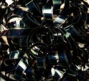 被展开的堆35mm电影filmstrip颜色地毯 免版税库存图片