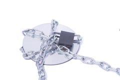 被巩固的CD的链数据rom 库存照片