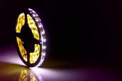 被带领的光亮的二极管点燃背景 图库摄影