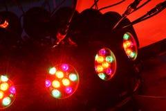 被带领的电灯泡问题星光芒 免版税图库摄影