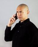 被干扰的smartphone 免版税库存照片