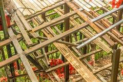 被建立的一个木制框架 库存图片
