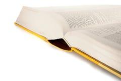 被开张的书词典 免版税库存图片