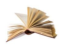 被开张的书飞行 免版税图库摄影