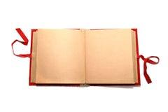 被开张的册页空白 库存图片